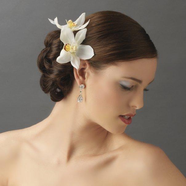 Orchid Floral Hair Clip Amp Pin Elegant Bridal Hair