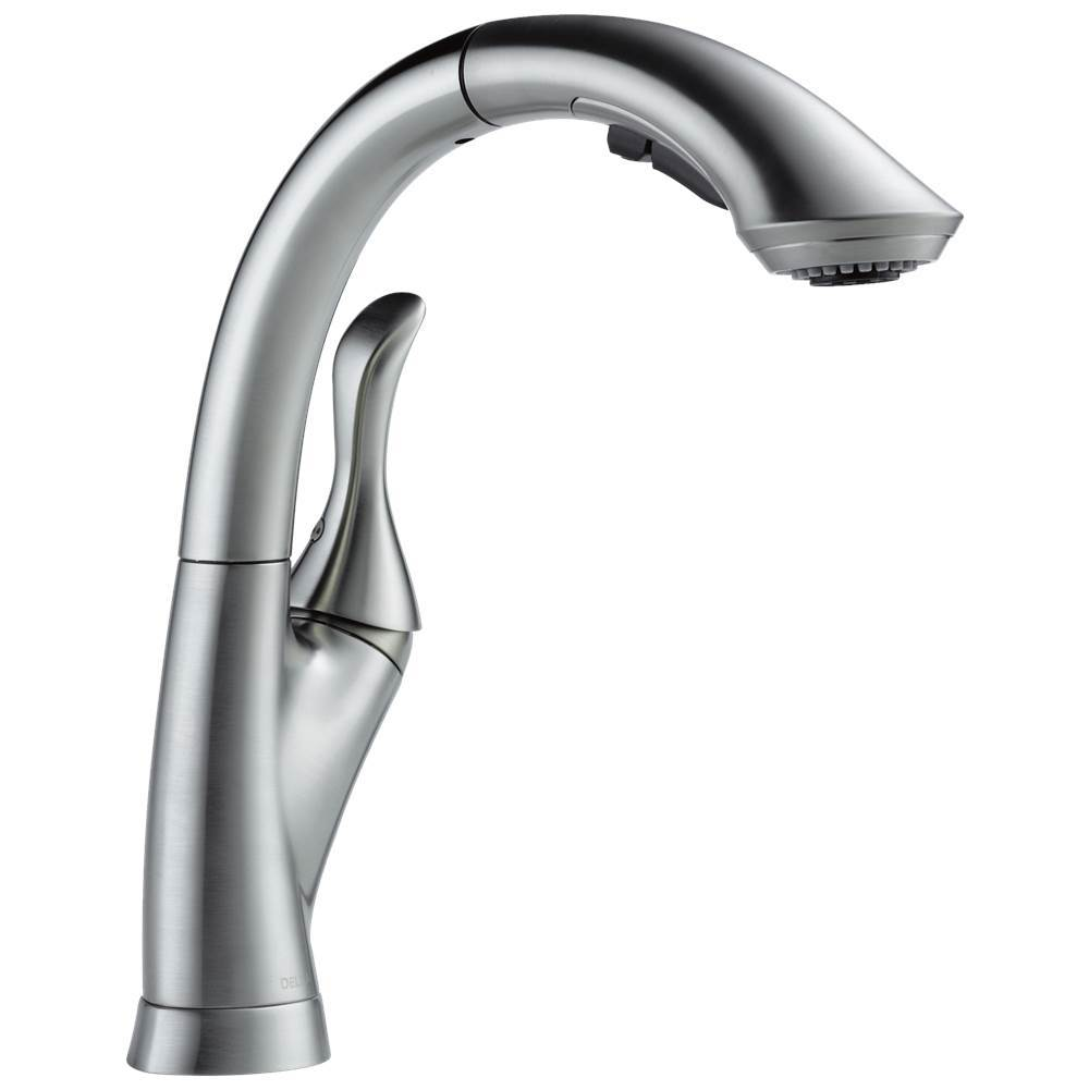 linden single handle pull out kitchen faucet