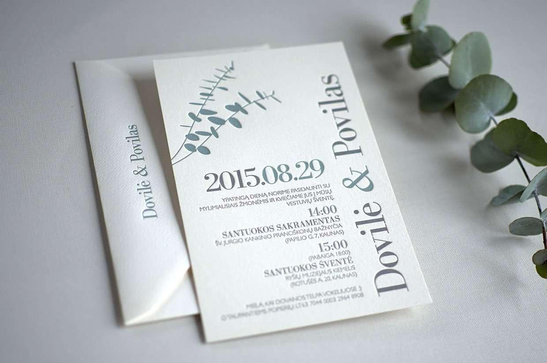 Eucalyptus Wedding Invitation ELEGANTE PRESS