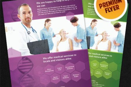 Financial Template For Business Plan Medical Brochure Templates