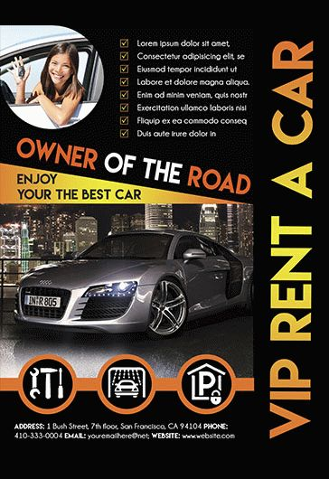 Rent A Car Flyer By ElegantFlyer