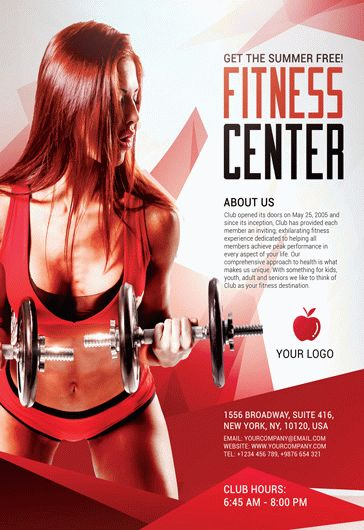 Fitness Center Sports Free Flyer PSD Template By
