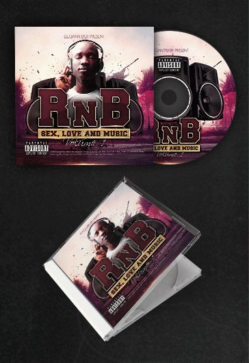 RnB Music Free CD Cover PSD Template By ElegantFlyer