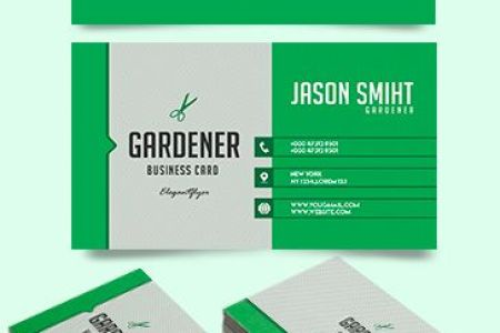 Free Business Cards Templates for Photoshop   by ElegantFlyer Gardener     Free Business Card Templates PSD