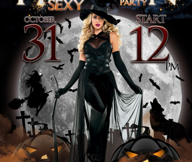 Halloween Sexy Party Free Flyer Template