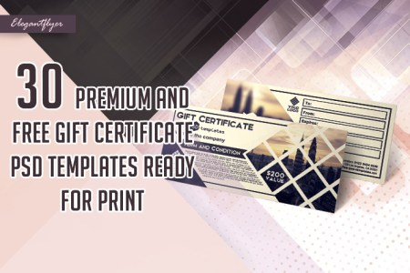 30 Premium and Free Gift Certificate PSD Templates Ready for Print     30 Premium and Free Gift Certificate PSD Templates Ready for Print