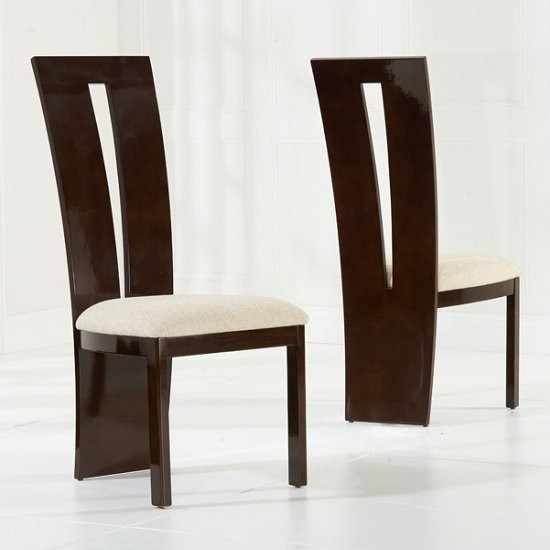 Marble Dining Set In Brown With 4 Arizona Cream Dining Chairs Elegant Furniture Uk
