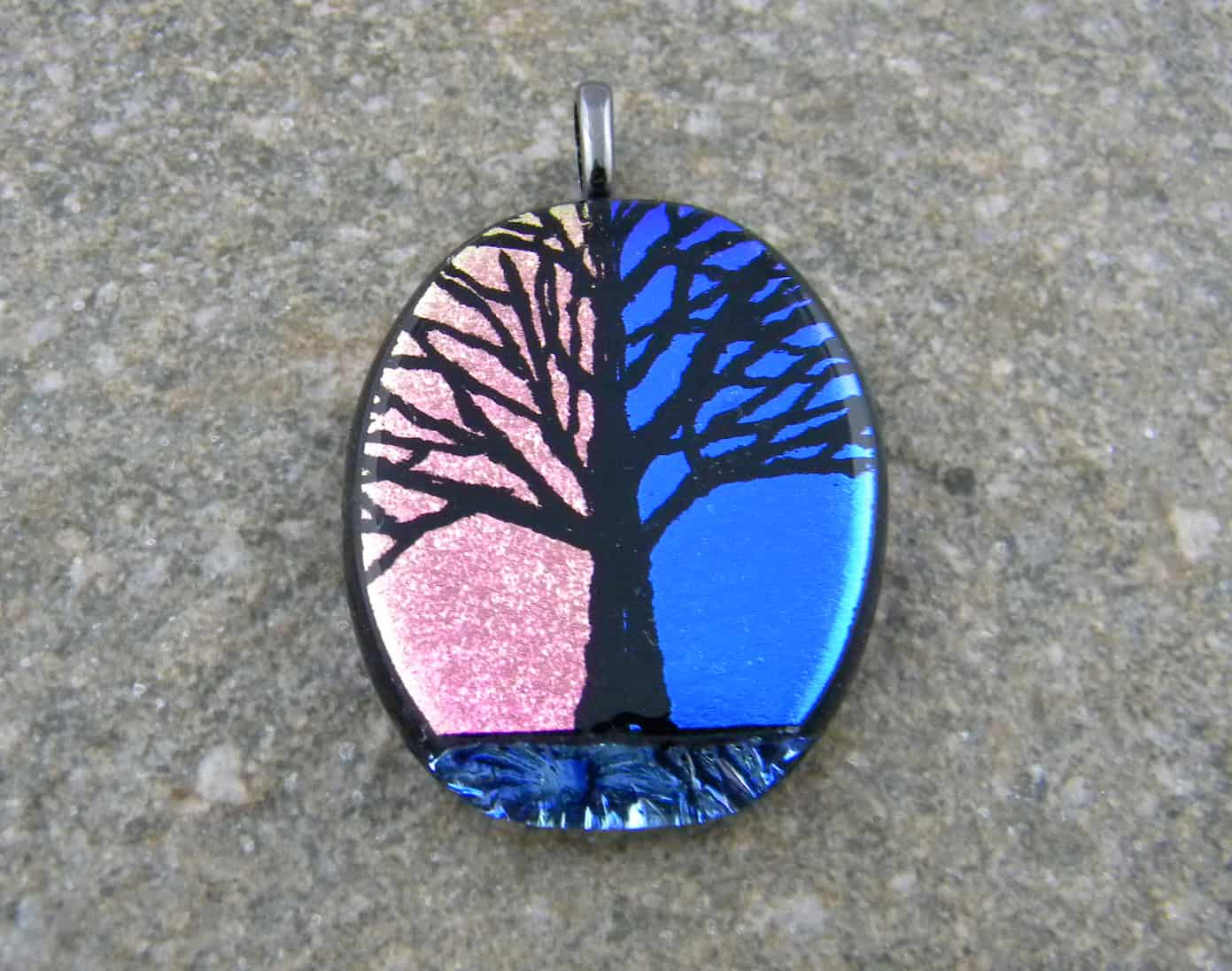 products pendant wrapped file artfully charmed wire original fused store online glass