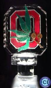 Ohio State Block O Ice Sculpture