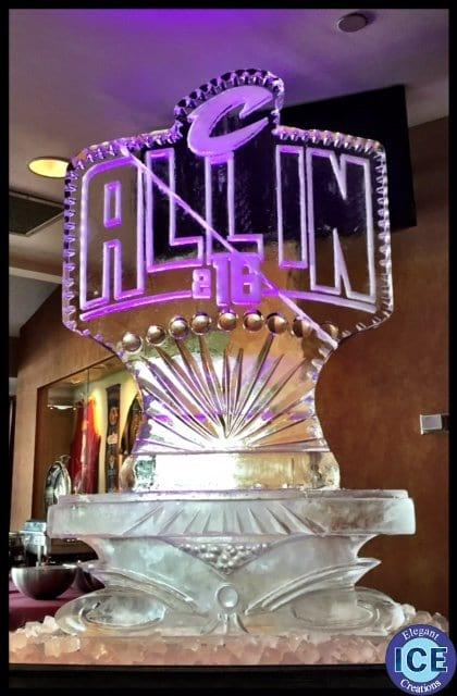 Cleveland Cavilers All In Ice Sculpture
