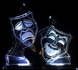 Theatre masks Ice Sculpture