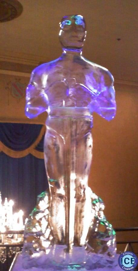 oscar ice sculpture