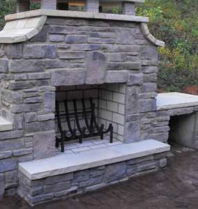 an outdoor fire grate
