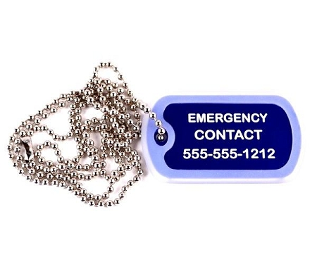 ... > Latex Allergy Medical Alert Dog Tag Necklace or Keychain ID