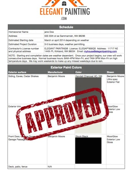 hoa color approval process