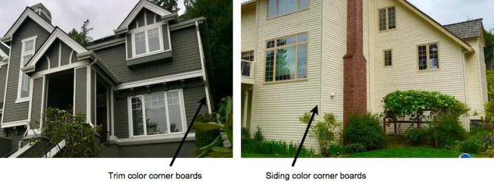exterior painting corner boards