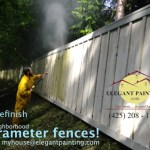 woodinville fence painting contractor