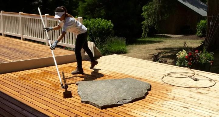 elegant deck staining