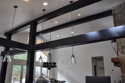high ceilings black interior paint color