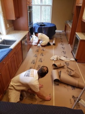 cabinet painters floor covering