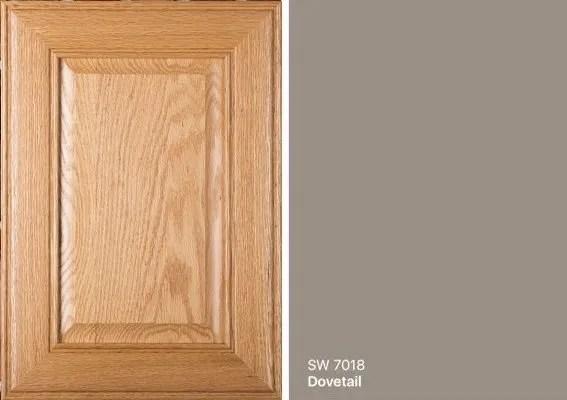 gray oak cabinet