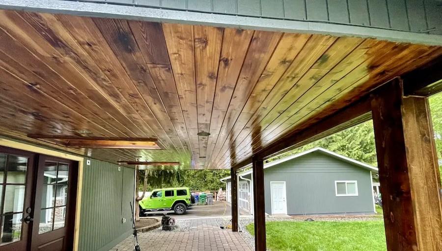 exterior stain ready seal dark walnut