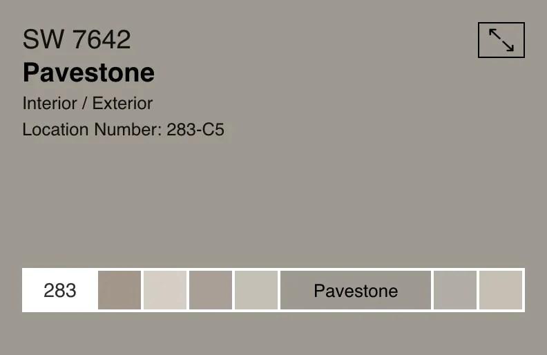 sherwin williams pavestone sw7642