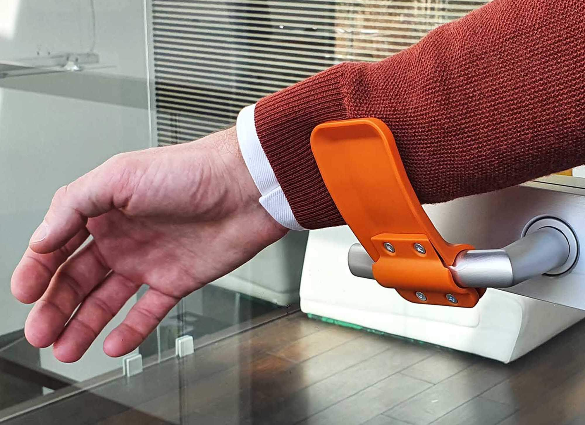 cylindrical, wide - hands-free door opener
