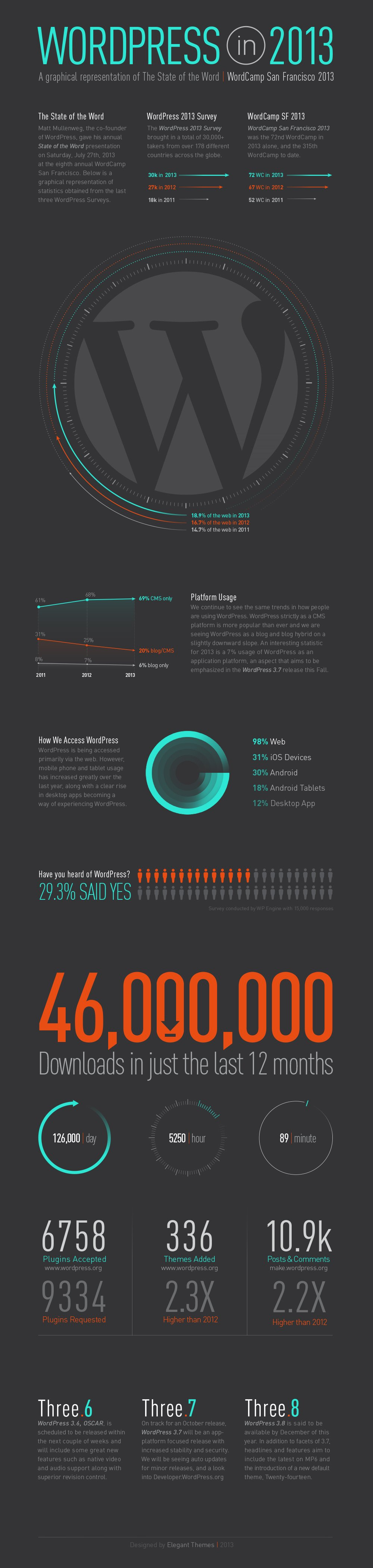 WordPress Infographic 2013