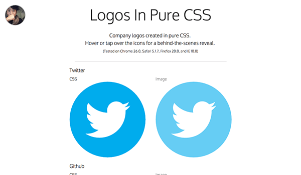 Logos-In-Pure-CSS