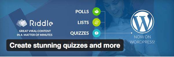 riddle quiz plugin Wordpress sınav eklentileri