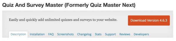 quiz survey master 1024x240 Wordpress sınav eklentileri