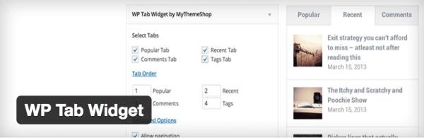 WP Tab Widget plugin