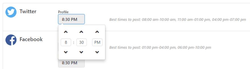 Modifying the sharing window for an individual platform.