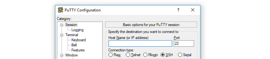 Configuring Putty to connect to your VPS.