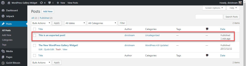 libsyn exported wordpress post dashboard