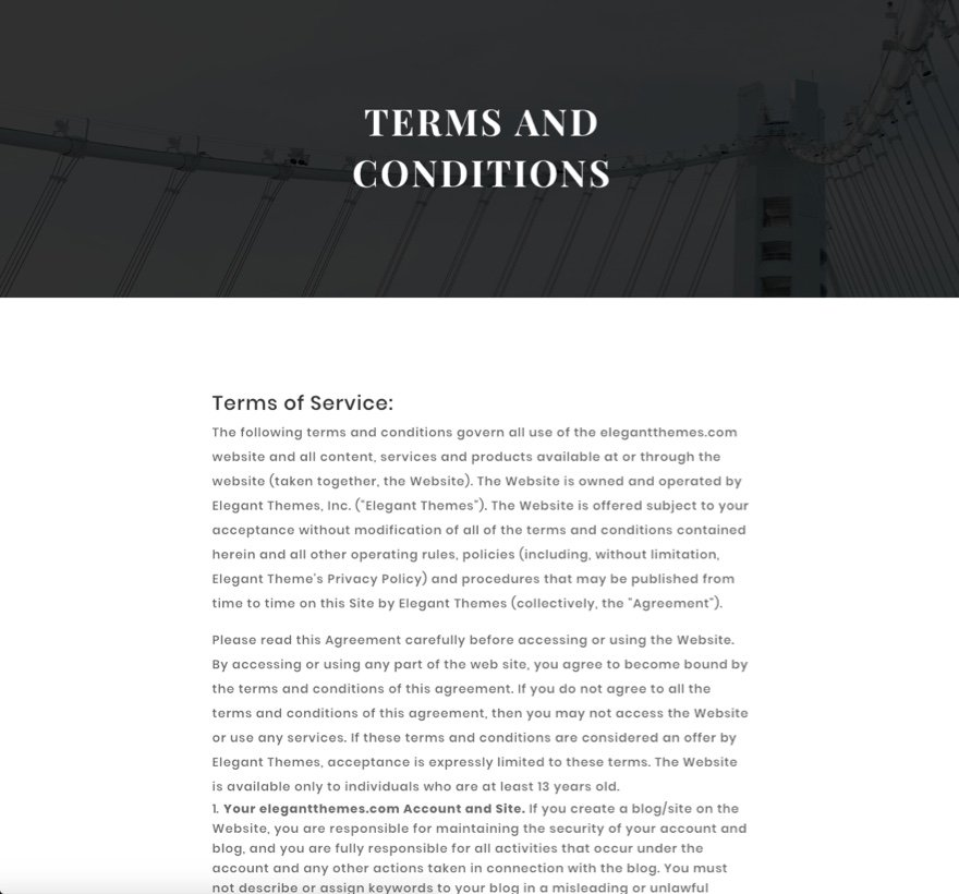 final terms page