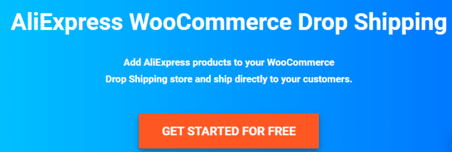 The WooDropship homepage.
