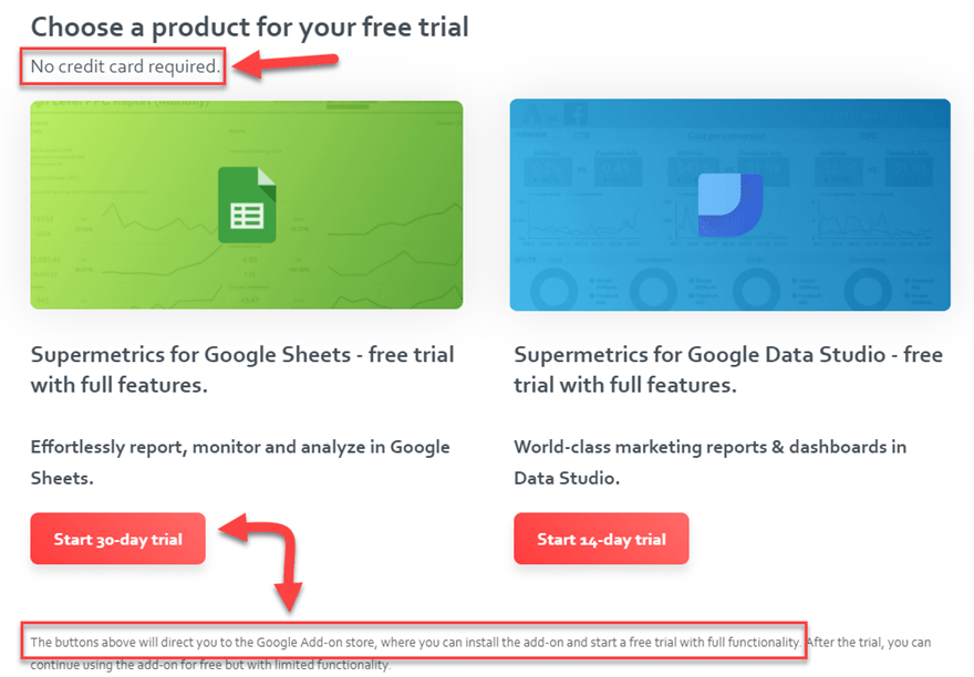 google sheets free trial