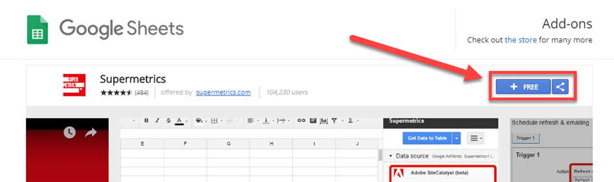 google sheets add on