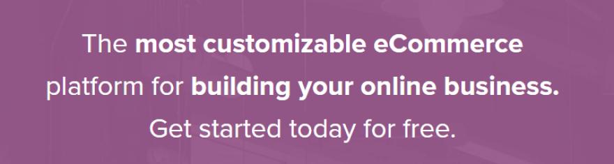 The WooCommerce homepage.