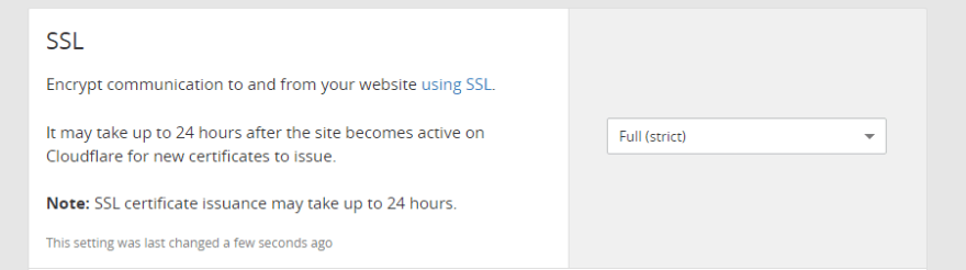 Tweaking your Cloudflare SSL settings.