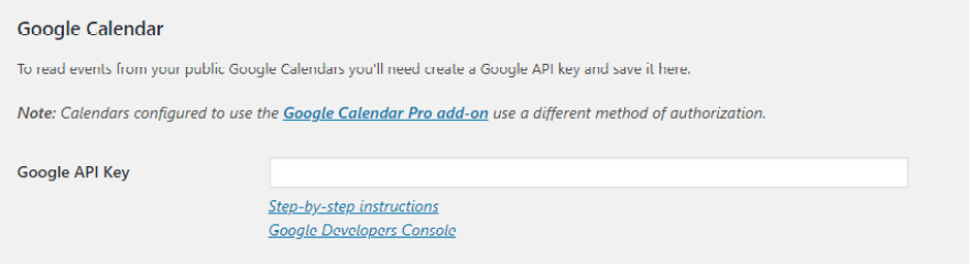 Using your Google API key.