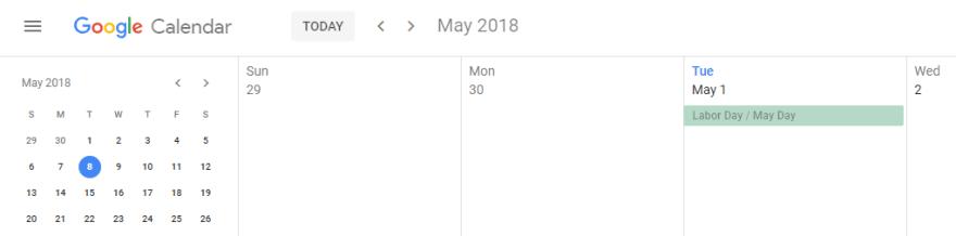 A Google Calendar.
