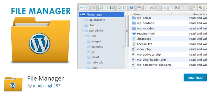 WP File Manager for WordPress Dashboard