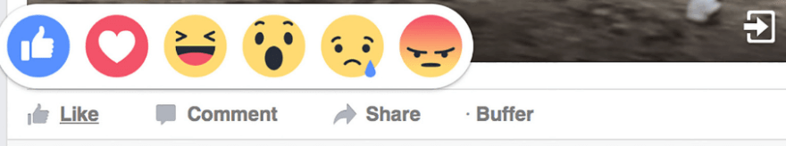 Facebook's reaction system in action.