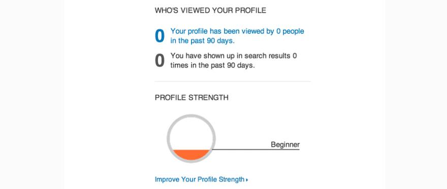 A LinkedIn profile overview.