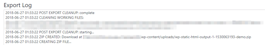 Downloading your static website as a ZIP file.