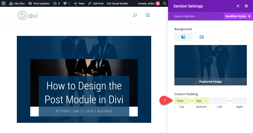 post36 Theme Builder Layout