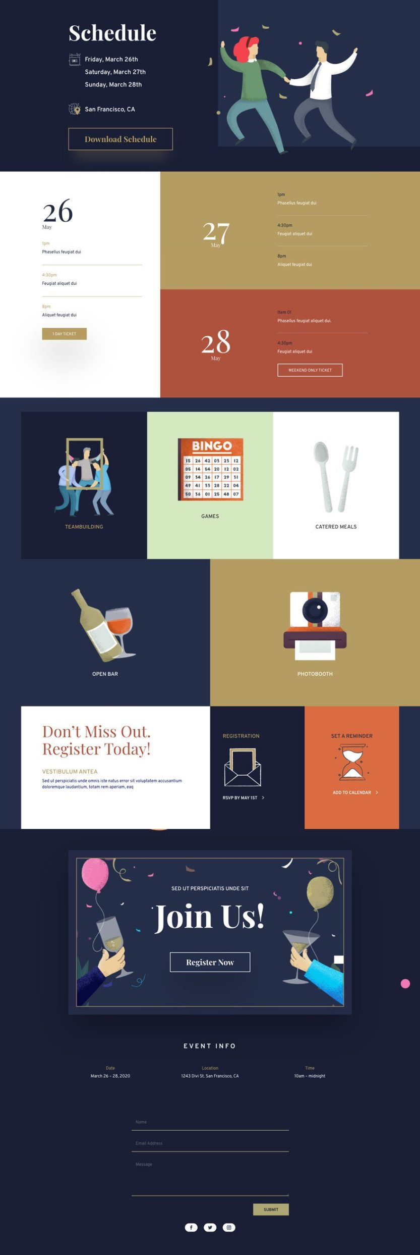 divi event layout pack